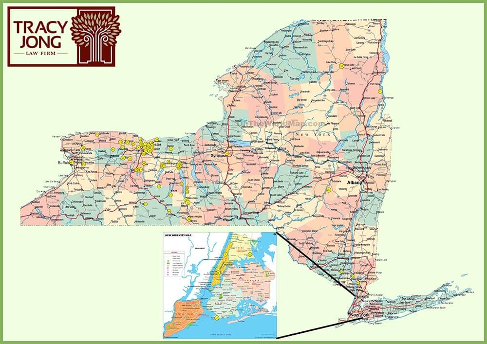 map of New York craft beer clients